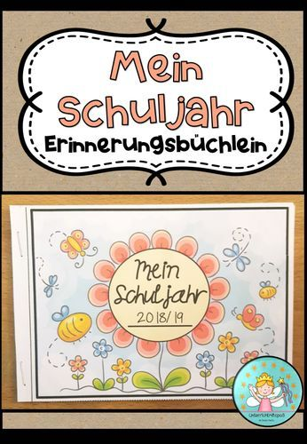 My school year – Souvenir booklet (booklet to record memories and experiences from the school year) – Teaching material in the subjects Interdisciplinary & Art