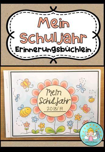 Mein Schuljahr – Erinnerungsbüchlein (Heftchen um Erinnerungen und Erlebnisse aus dem Schuljahr festzuhalten) – Unterrichtsmaterial in den Fächern Fachübergreifendes & Kunst – Bea Kuhnen