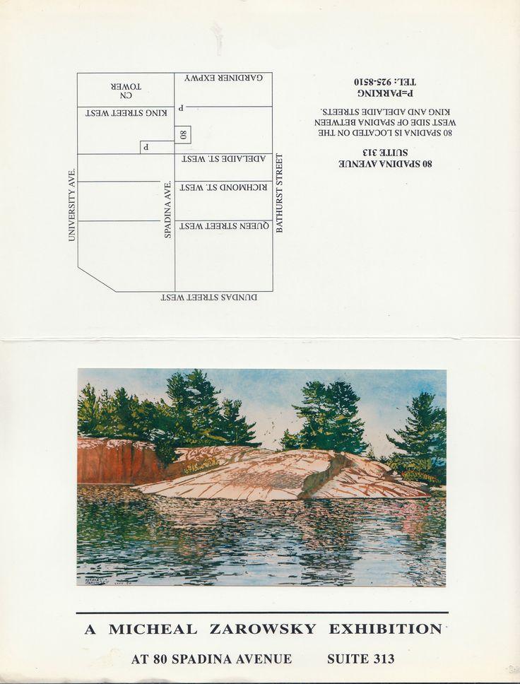 killarney watercolours / zarowsky at 80 spadina suite 313, tornto