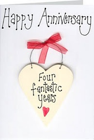 ... Anniversaries Ideas, Anniversaries Scala, 4Th Anniversaries, Happy 4Th