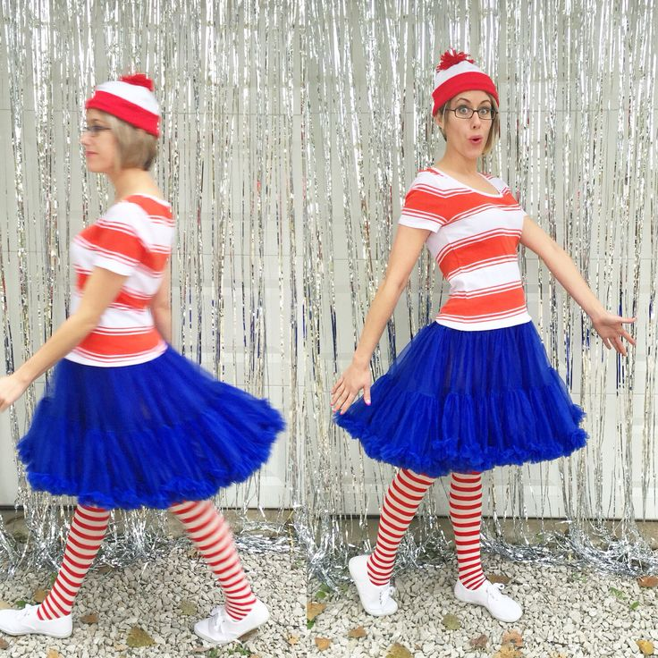 halloween costume wheres wenda female counterpart to wheres waldo you need a red and white striped shirt the jennifer petticoat in royal blue by - Halloween Petticoat