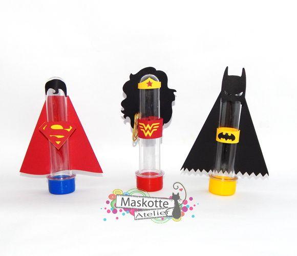 Tubete Batman Superman mulher maravilha