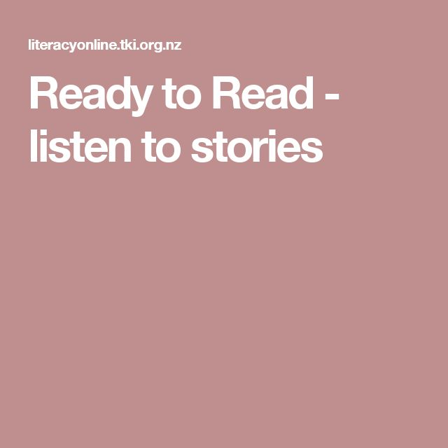 Ready to Read - listen to stories