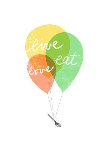 Live Love Balloons Art Print by Ana Zaja Petrak Easyart.com