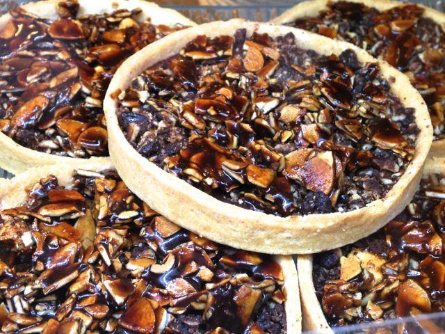 Chocolate walnut tart at Vasco de Gama in #Montreal