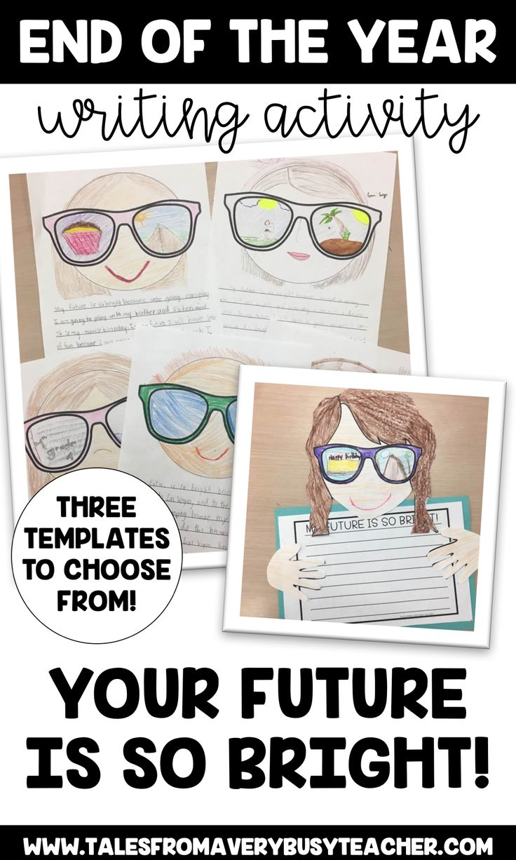This is the perfect writing activity for the end of the year in an elementary classroom. You have several template to choose from, plus graphic organizers and rough draft templates. End the school year with learning and fun!