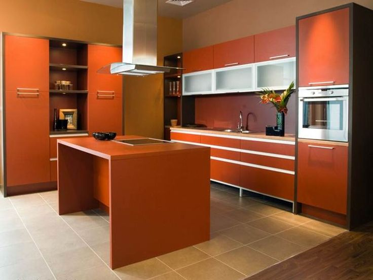 Kitchen Color Scheme From Wooden Furniture