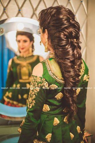 indian fashion bridal hairstyles #weddingnet #india #indian #indianwedding #weddingdresses