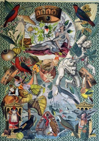 Mauricio Garrido, Giardiniere 7, 1.10 mts x 64 cms, collage, 2012