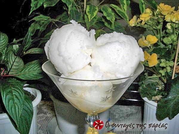 Παγωτό λεμόνι σορμπέ #sintagespareas