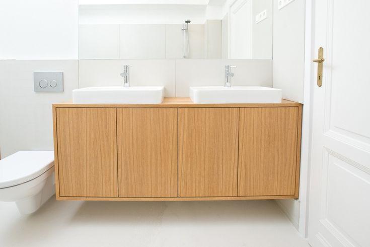 Bathroom cabinet oak - barlang muhely