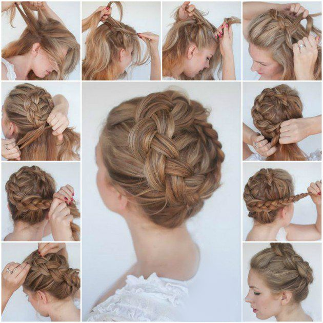 Braided shoulder-length hair: 15+ easy-to-use instructions for every day