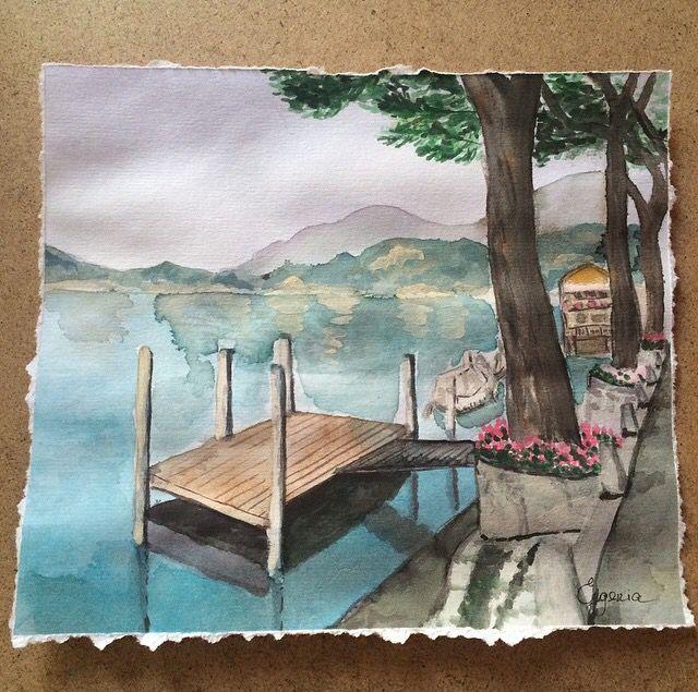 Lugano lake watercolors. Morcote