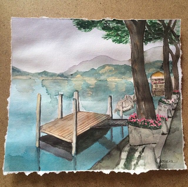 Lugano lake watercolors. Morcote