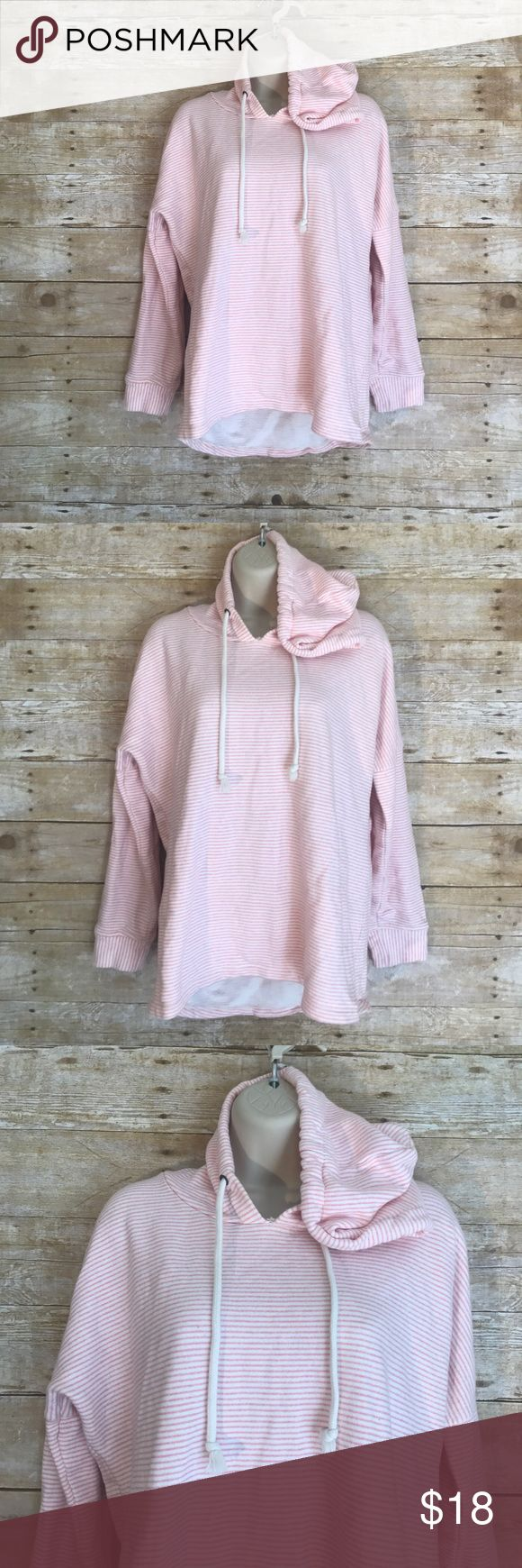 O'Neill pink striped hoodie SZ M cowl neck sweater O'Neill Brand - Size Medium - excellent condition - pink/white striped hoodie ‼️FAST SHIPPING‼️ O'Neill Tops Sweatshirts & Hoodies