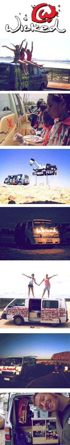 Wicked Campers is a unique vehicle alternative to traveling around Australia.
