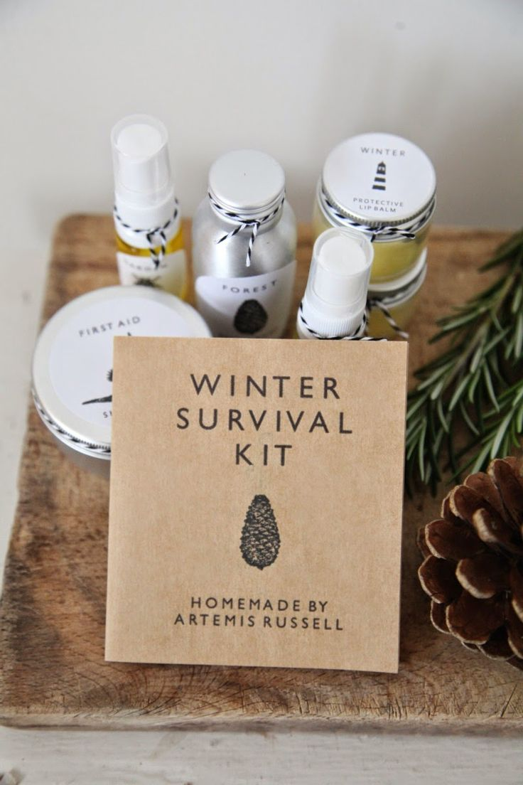 Handmade winter survival kit (handmade skin care & candle with ingredients booklet)