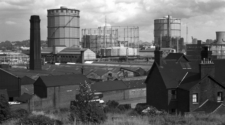 This is a view of the Etruria Gasworks, long gone. You can view all these on: Ken_Davis_Archive on Flickeflu