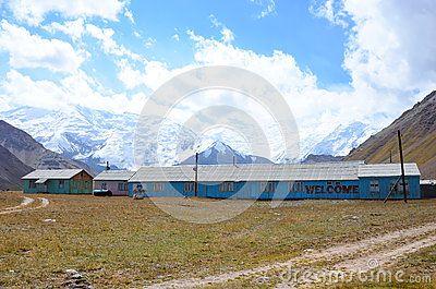 Abandoned base located in onion fields, Lenin Peak basecamp.