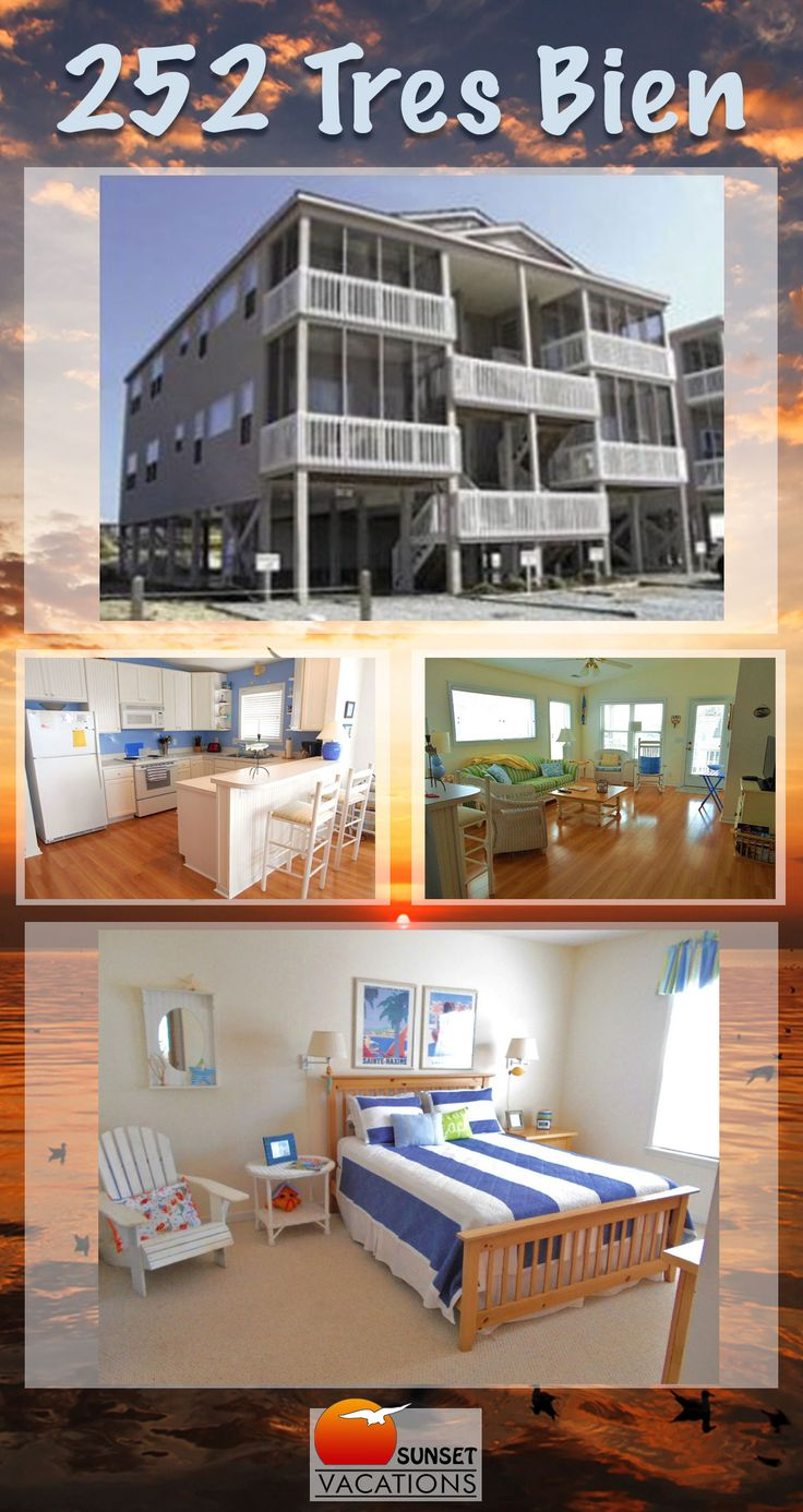 Tres Bien is a gorgeous top floor condo, featuring 2 bedrooms and room for 6 guests! This bright and sunny Sunset Beach vacation rental is just right for your small family! Book now!