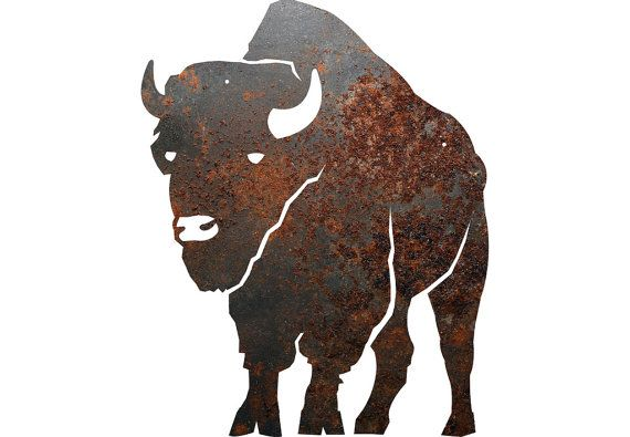 Rustic Home Decor Buffalo Silhouette Metal Sign By