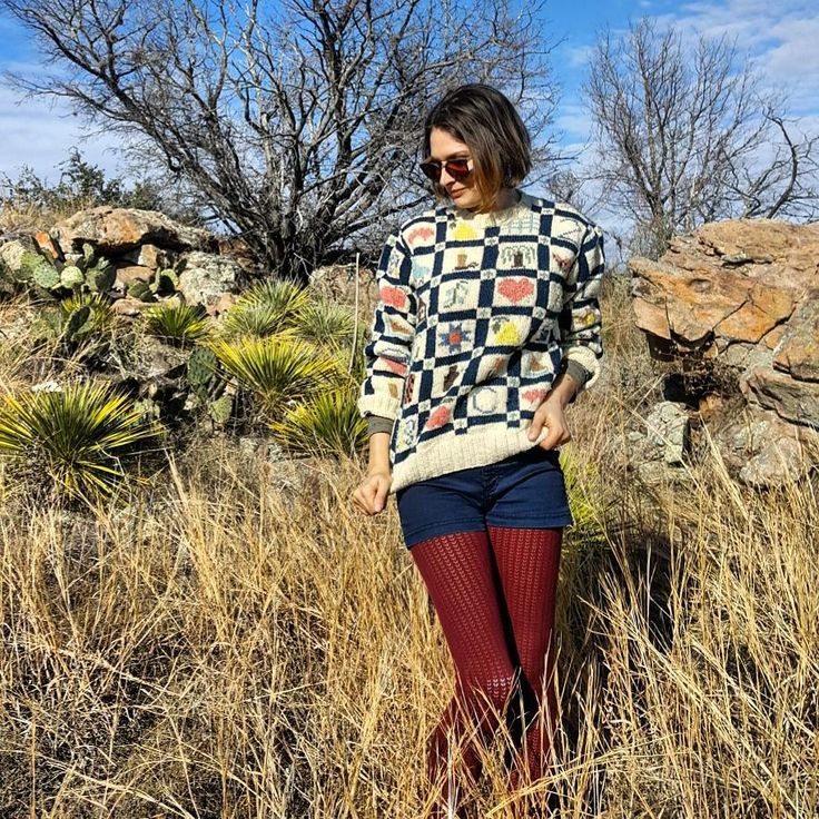 I'm in love with this strange and utterly dope sweater! The squares are so fun to look at! They range from random letters to hearts to houses to pears. It cracks me up. Aaaaand it's toasty warm! No tags since it's handmade but I would guess it's a size S or M. $25 free shipping within the continental US. . . I accept paypal or venmo. DM to purchase. Since this item is vintage it may have minor imperfections as to be expected. Please take into consideration my lifestyle when purchasing. It…