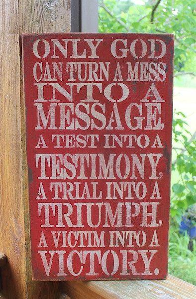 Gods Testimony Positive Message Subway Sign