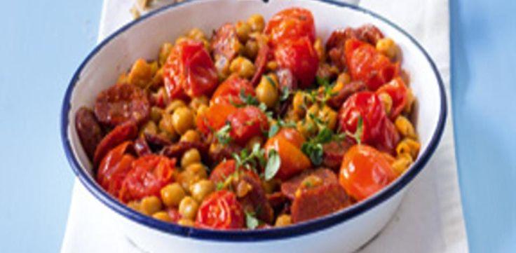 Ostrá rajčata z pánve