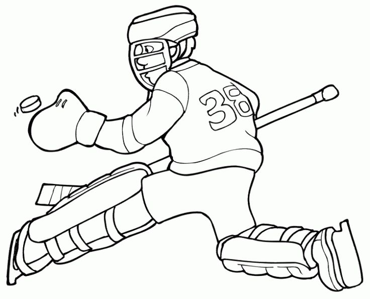 kids printable hockey coloring pages