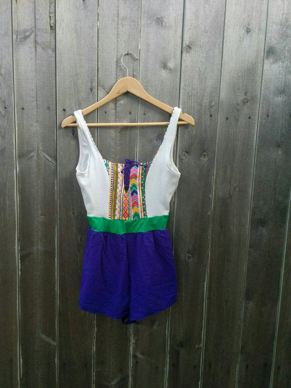 Check out this item in my Etsy shop https://www.etsy.com/listing/384403124/vintage-1980s-swimsuit-romper-jumper