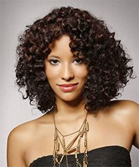 Above the Shoulder Curly Hair | curly a combination of layers are cut all through this naturally curly ...