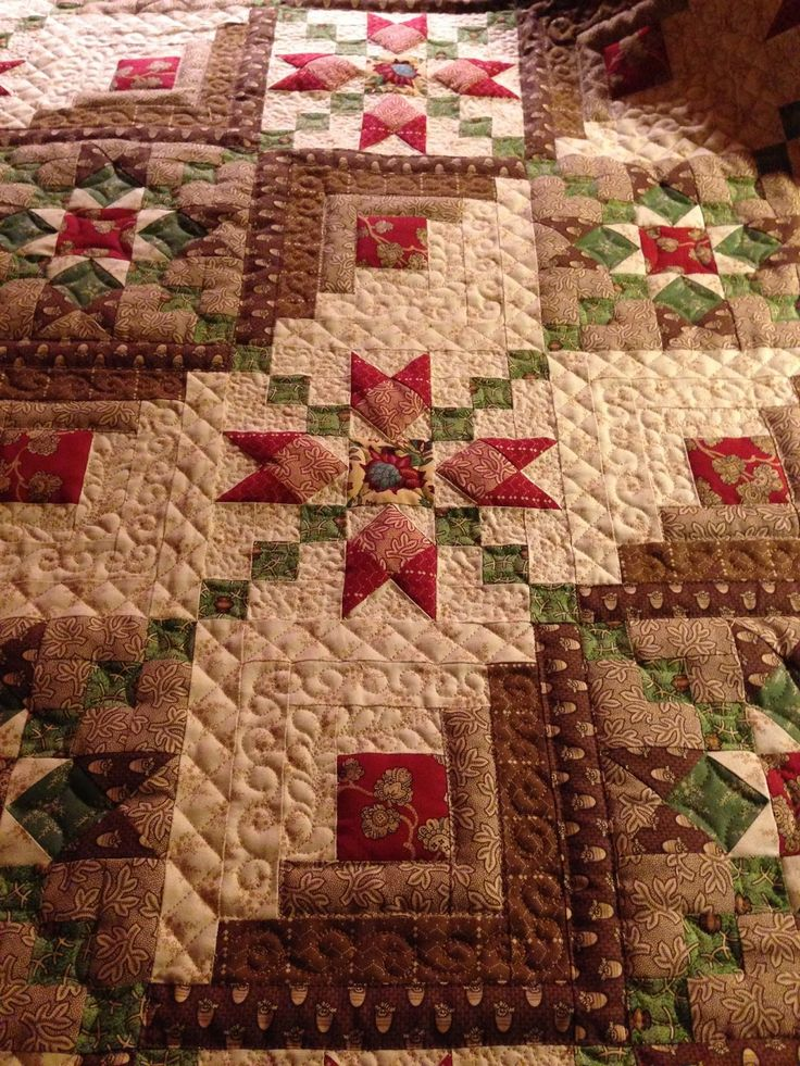 ❤ =^..^= ❤ Sew'n Wild Oaks Quilting Blog | Absolutely gorgeous fancy log cabin!!!!!                                                                                                                                                                                 More