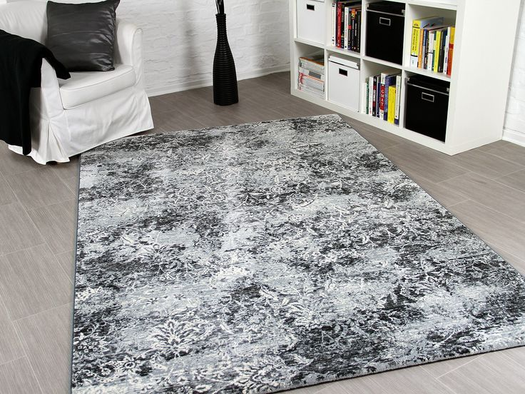 Orient Teppich Da Vinci Anthrazit Grau Vintage Teppiche - teppich wohnzimmer grose