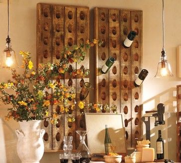 Need this in kitchen! traditional wine racks by Pottery Barn