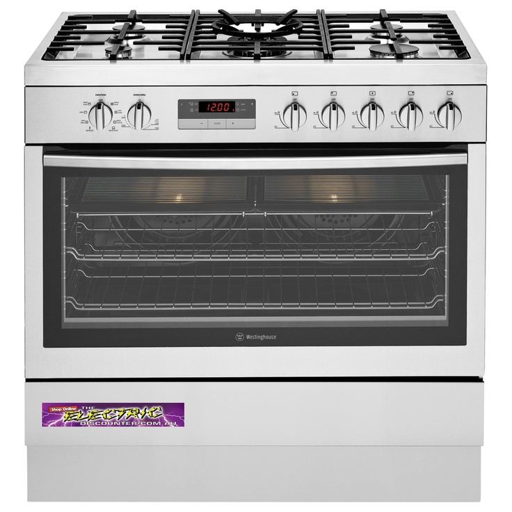 WFE914SA Westinghouse 90cm 125L Dual Fuel Freestanding Cooker Features 5 Burner Gas Hob including Wok, 8 Multi Functions, Electronic Ignition, Triple Glazed Doors, Cool Touch Door, Fast Heat up Time and Made in Australia. $1878