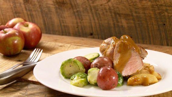 Filet de porc aux pommes