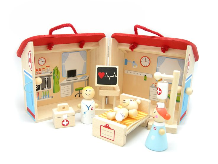 Cheeky Chops Shop  - Wooden Hospital Play Set, $56.00 (http://www.cheekychops.com.au/wooden-hospital-play-set/)