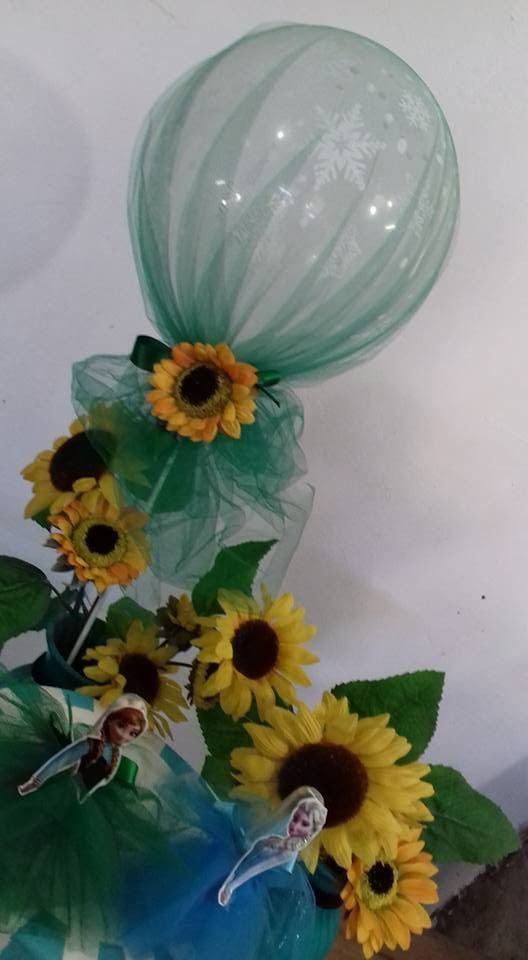 DIY FROZEN/ Ideia decoração com balão tema Frozen Fever/ Balloons decora...