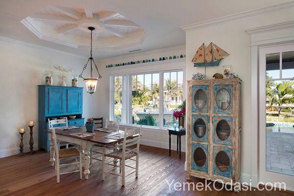 Yemek Odasında Denizcilik Beyaz, mavi ve bazı toprak tonlarını kullanarak denizcilik temalı yemek odası dekorasyonu oluşturabilirsiniz. Deniz temalı dekorasyon tarzında daha çok açık renk paletlerini göreceksiniz ve plaj temalı alanlara benzer bir tasarımı var. Sözü fazla uzatmayarak sizler için seçtiğimiz yemek odası mo ... http://www.yemekodasi.com/yemek-odasinda-denizcilik/  #DenizTemalıDekorasyon, #YemekOdasıDekorasyonu, #YemekOdasıModelleri