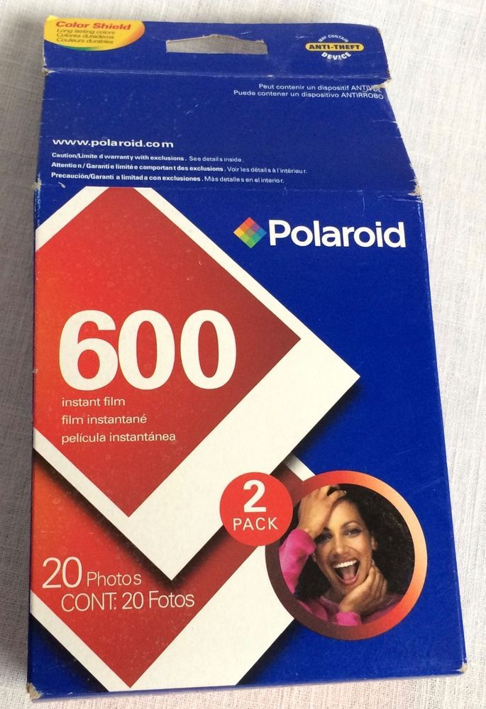 Box Polaroid 600 Film Instant Film Expiration Date Dec 2008 20 Photos #Polaroid