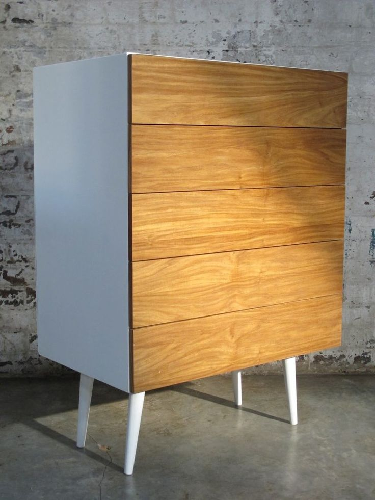Esque - R6K - This is such a neat waxed Kiaat wood design. Store your goodies in this chest of 5 draws. You tell us which colours and we will make it happen.