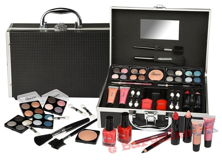 Urban Beauty 33 Piece Black Vanity Make up / Cosmetic Case