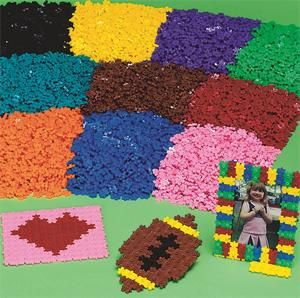 Color Quarks Pack Of 8000 Plastic Building Beads Fit
