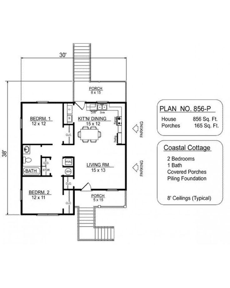 House plan vl856 p beach pilings for Narrow lot beach house plans on pilings