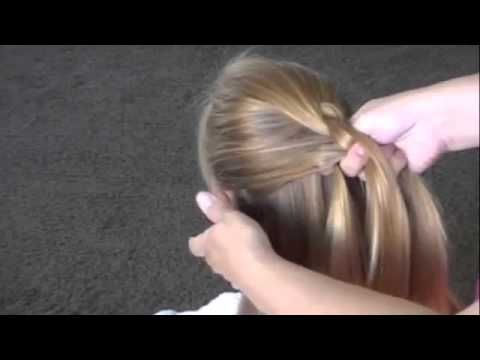 ▶ How to do a Dutch Braid or inside out french braid - YouTube--for crown braid--french braid only braid under rather than over