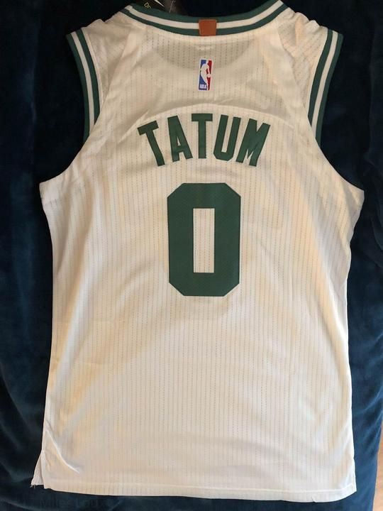 Men 0 Jayson Tatum Jersey White Boston Celtics Jersey Player version