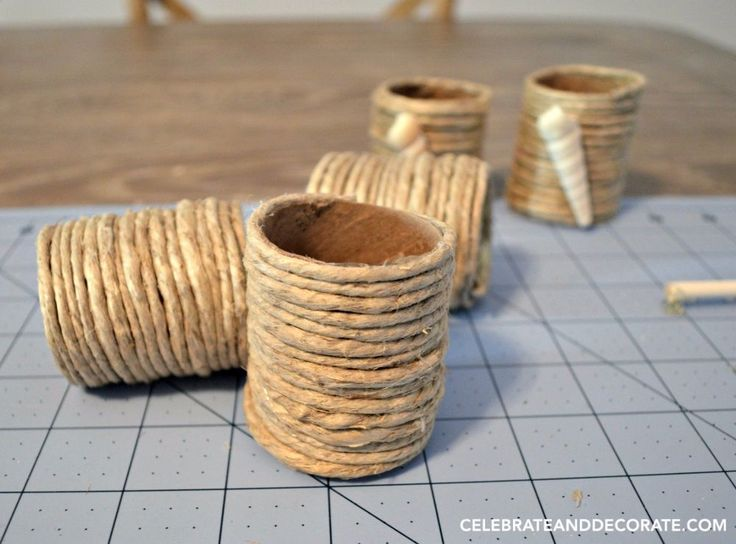 Turn Toilet Paper Rolls into Beachy Napkin Rings
