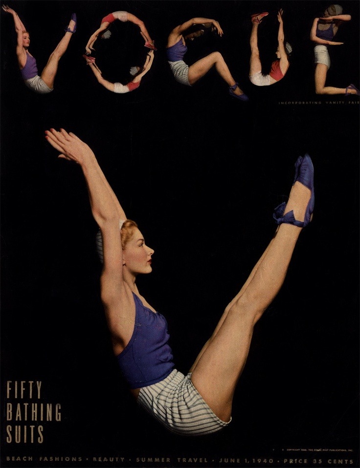 Vogue June 1 1940, Lisa Fonssagrives - #Vintage #yoga Loved and pinned by www.deyogatempel.nl #deyogatempel