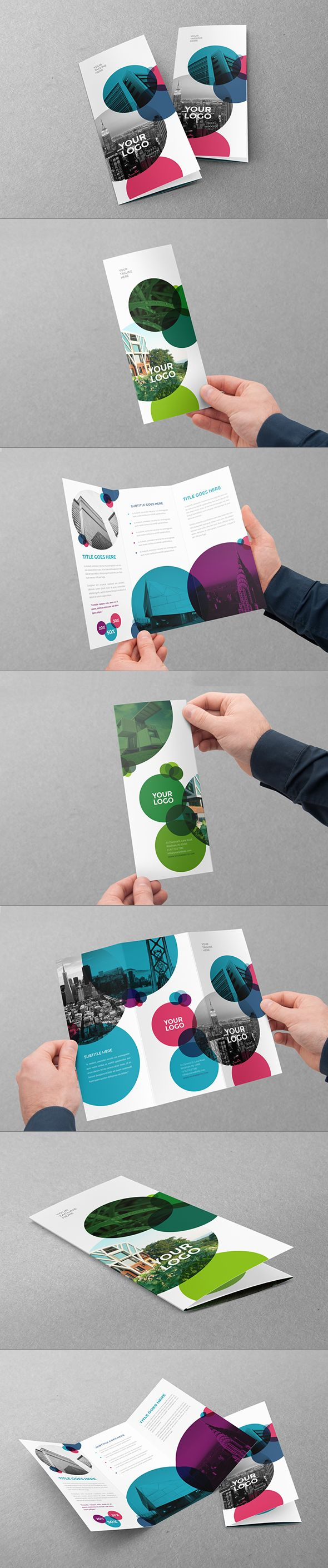 Cool Ecologic Trifold. Download here: http://graphicriver.net/item/cool-ecologic-circles-trifold/10880089?ref=abradesign #trifold #brochure #design