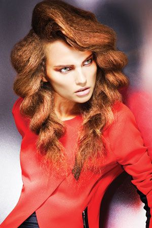 Hair: Jamie Stevens at Jamie Stevens Hair. Make-up: Dragon. Styling: Kate Jeffery. Photography: Barry Jeffery